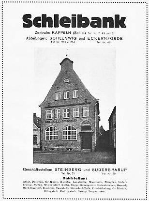 Schleibank - Anzeige von 1923
