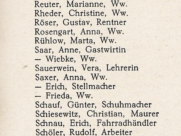 Mehlby - Adressbuch Flensburg 1953