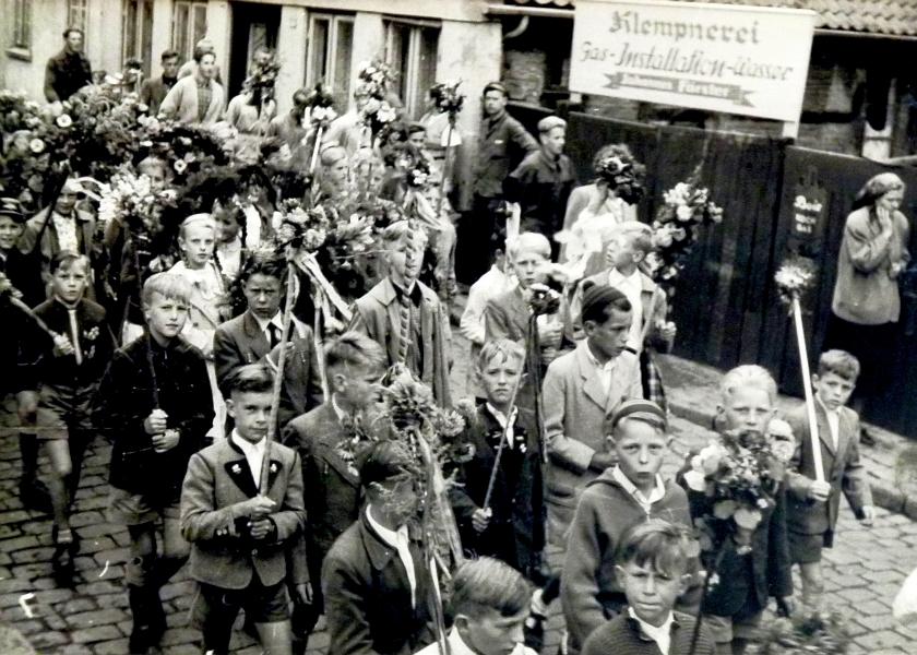Gildeumzug der Mittelschule 1956