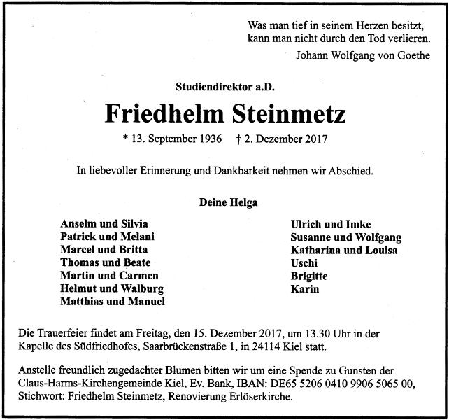 Friedhelm Steinmetz