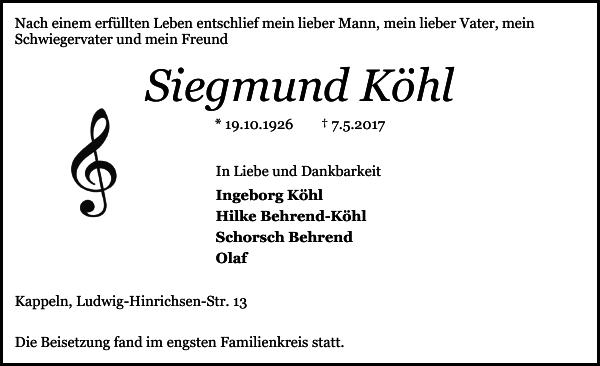 Siegmund Köhl