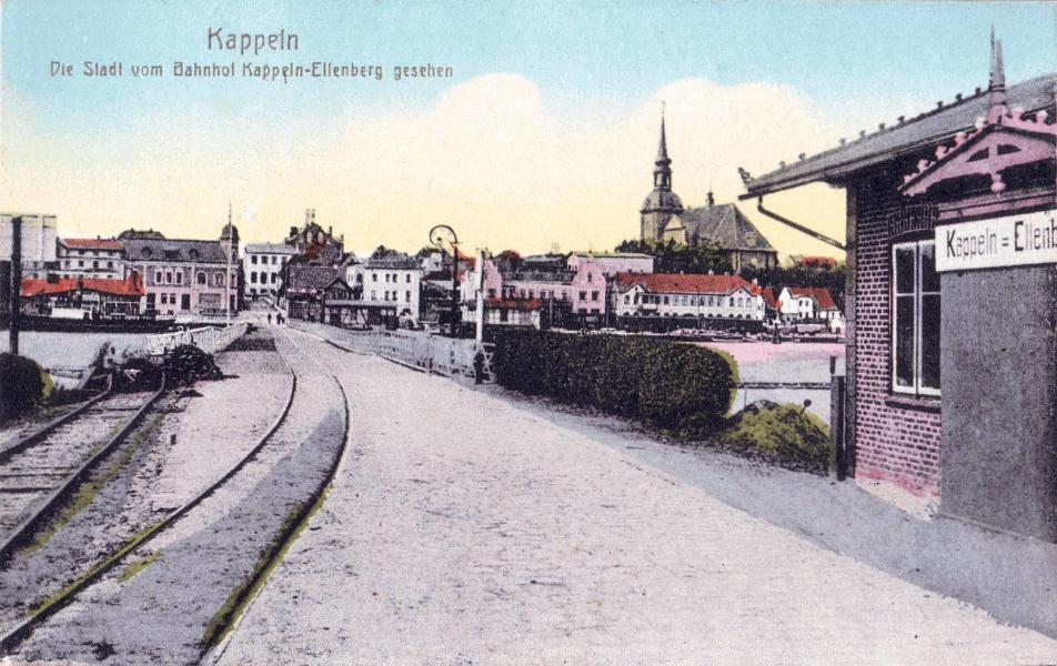 Kappeln - Eckernförder Kreisbahnhof Kappeln-Ellenberg (1919)