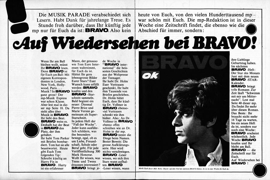Musik Parade Nr. 11 vom 22. Mai 1967