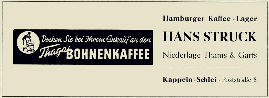 Hans Struck (Thams & Garfs) - Anzeige von 1956 aus TSV-Chronik