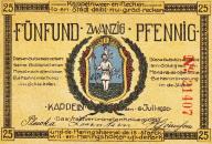 Kappeln - Notgeld 1920 - 25 Pfennig