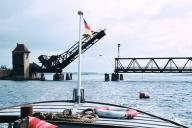 Klappbrücke Lindaunis - Foto: Walter Stöckel (60er-Jahre)