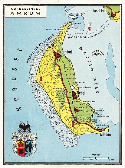 Amrum 1963 - Übersichtskarte