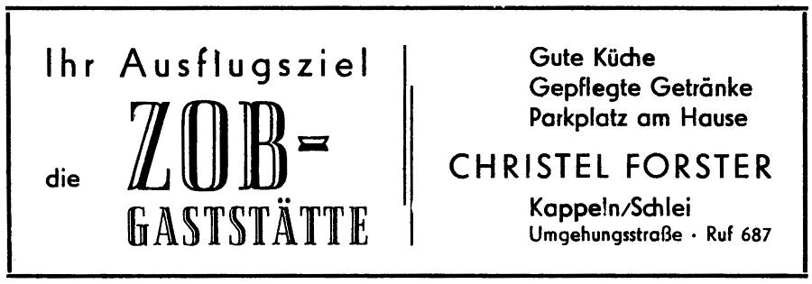 ZOB - Anzeige von 1961