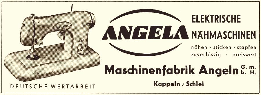 Angela - Anzeige von 1957