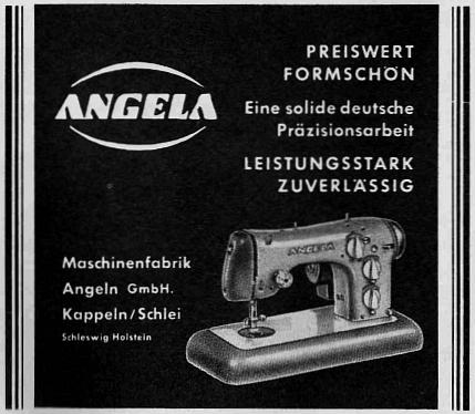 Angela - Anzeige von 1960