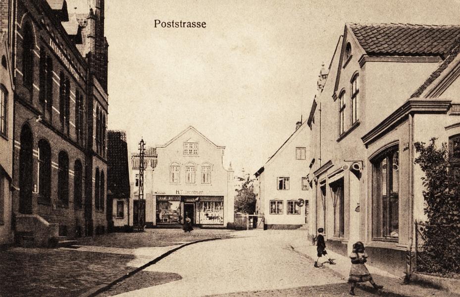 Kappeln - Poststraße (um 1910)