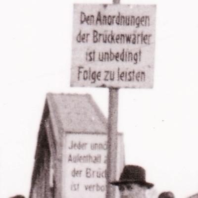 25 Jahre Drehbrücke in Kappeln (1952) - Ausschnitt - Foto von Eckhardt Schmidt aus dem Stadtarchiv Kappeln