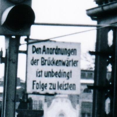 Drehbrücke in Kappeln (1954) - Ausschnitt - Foto von Eckhardt Schmidt aus dem Stadtarchiv Kappeln