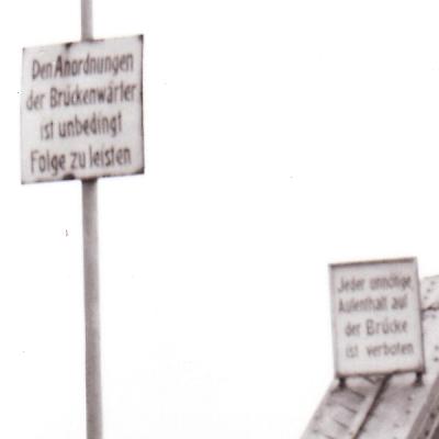 Drehbrücke in Kappeln - Eckernförder Kreisbahn - Ausschnitt - Foto von Eckhardt Schmidt aus dem Stadtarchiv Kappeln