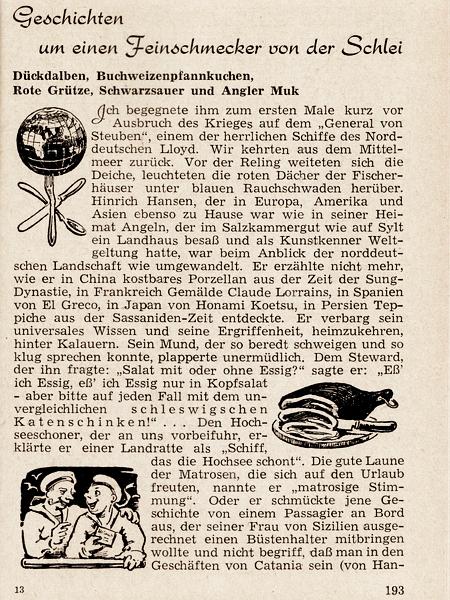 Schleswig und die Schlei (1954)