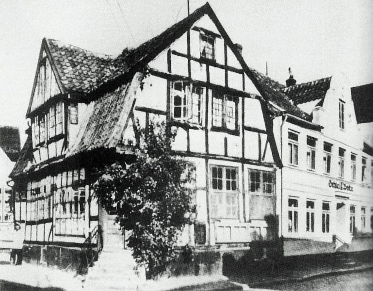Kappeln - Schmiedestraße/Dehnthof (um 1920)