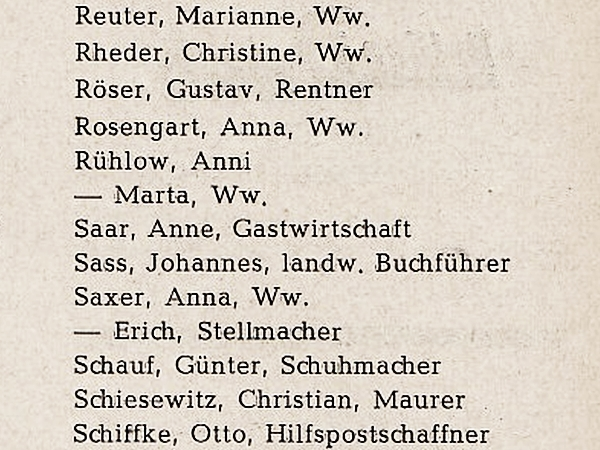 Mehlby - Adressbuch Flensburg 1955