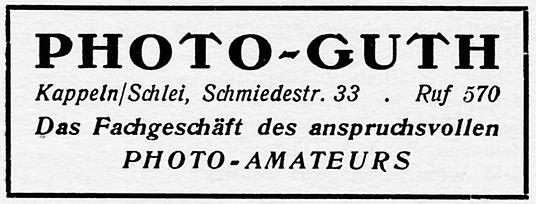 Photo-Guth - Anzeige von 1954