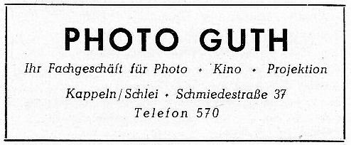 Photo-Guth - Anzeige von 1955