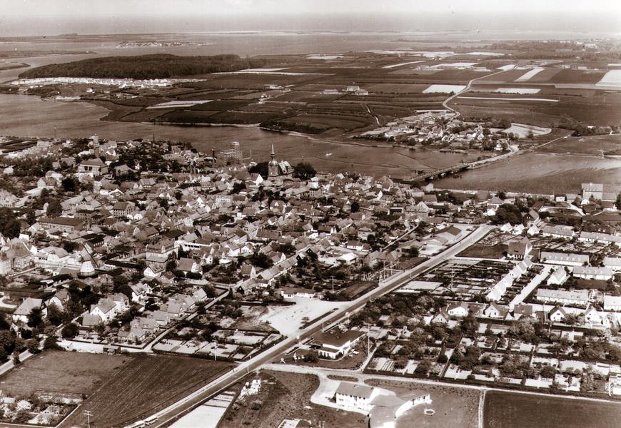Kappeln - Luftaufnahme von 1958
