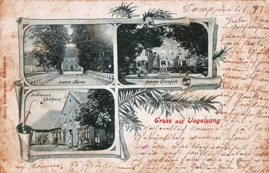 Gruß aus Vogelsang (Damp, 1.1.1899)