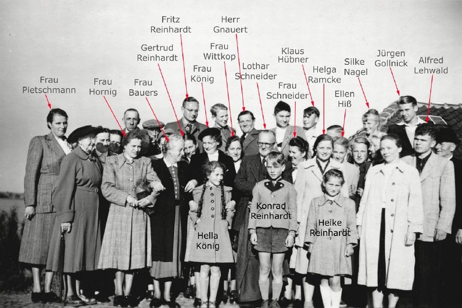 Kirchen- und Posaunenchor Kappeln 1953