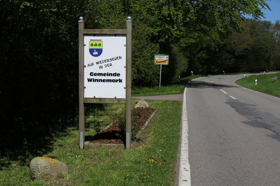 Ortsausgang von Winnemark - Foto: Holger Petersen (10.05.2015)