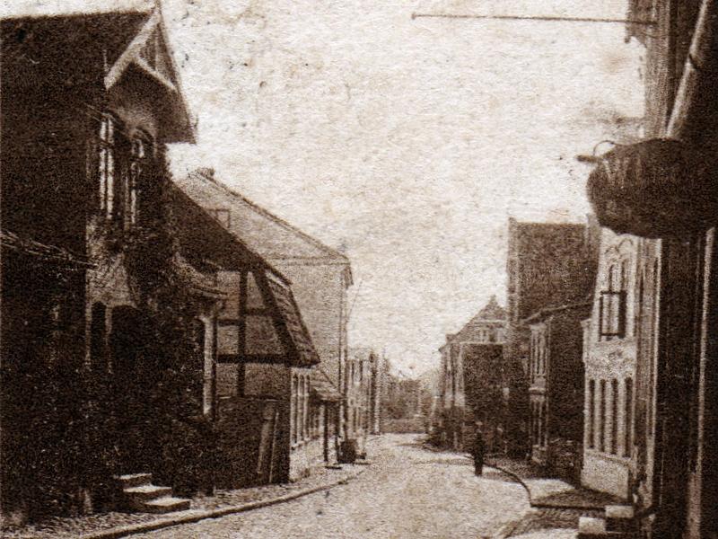 Kappeln - Mühlenstraße (um 1900)