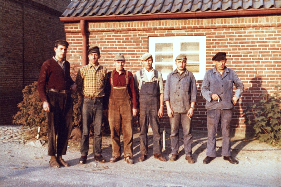 Kappeln - Lagermannschaft von Chr. Sieck - Foto: Christian Hansen (60er-Jahre)