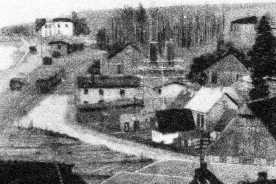 Kappeln - Fischräucherei Lass - Schornsteine kurz vor Fertigstellung (ca. 1928)