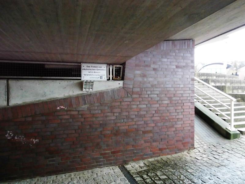 Kappeln - Brückenunterführung - Foto: Michaela Bielke (2014)