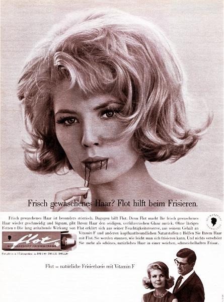 flot - Schwarzkopf-Anzeige von 1964