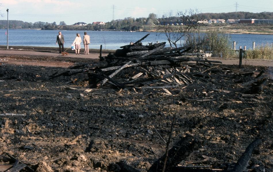 Brand bei Ancker - Foto: Fritz Reinhardt (1979)