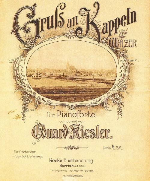 Gruß an Kappeln - Notenblatt (Titelseite)