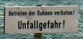 Betreten der Buhnen verboten! Unfallgefahr!