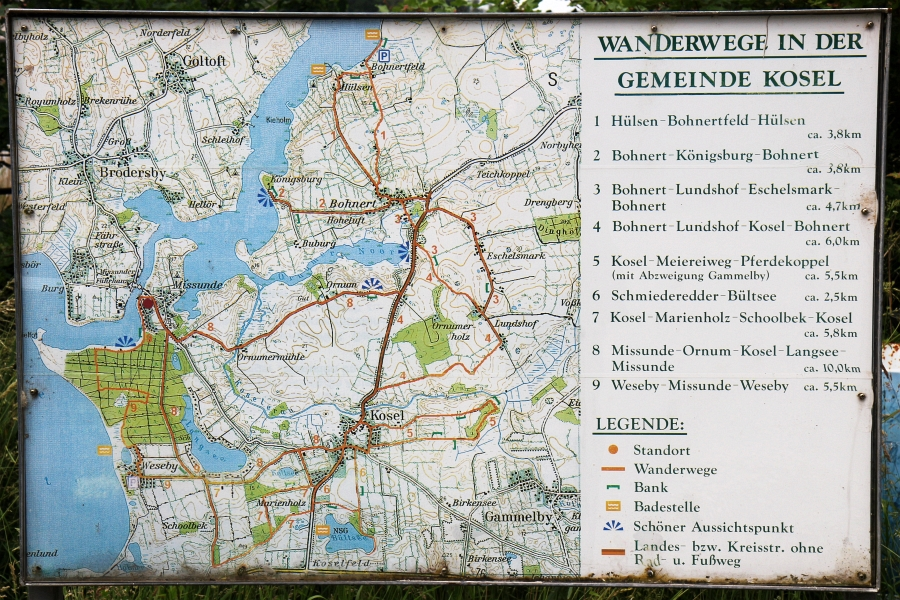 Kosel - Wanderkarte - Foto: Holger Petersen (11.06.2014)