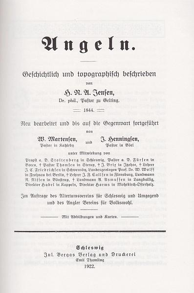 Angeln - Jensen 1844/1922