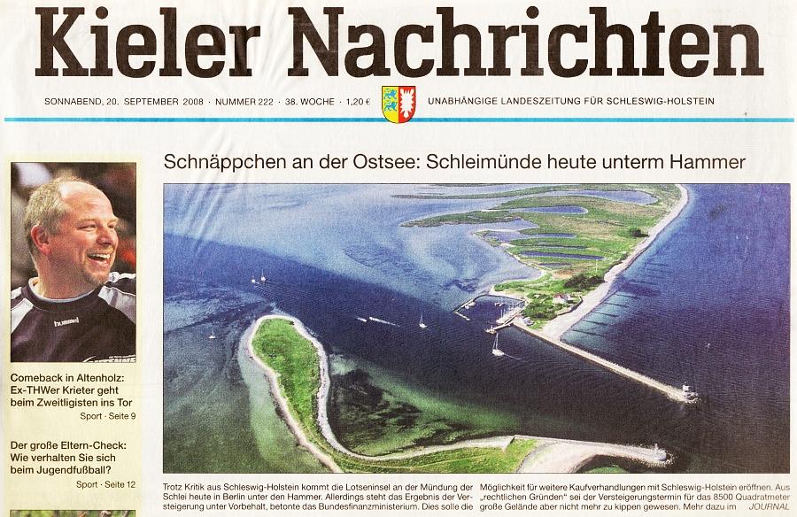KN vom 20.09.2008 - Lotseninsel Schleimünde
