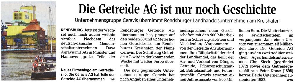 Kieler Nachrichten vom 20. Juli 2015