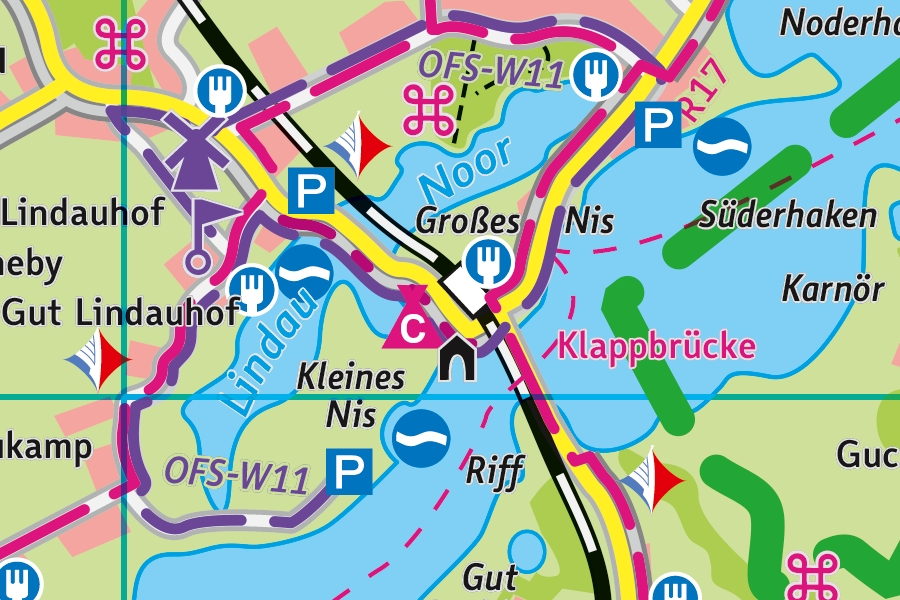 Kartenausschnitt - © Touristikverein Kappeln/Schlei-Ostsee e. V.