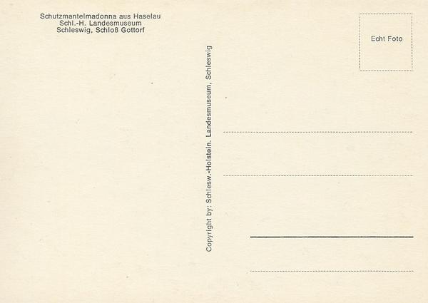 Schutzmantelmadonna - Ansichtskarte