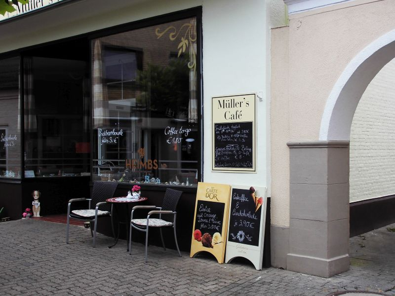 Kappeln - Müller's Café - Foto: Michaela Fiering (13.07.2019)