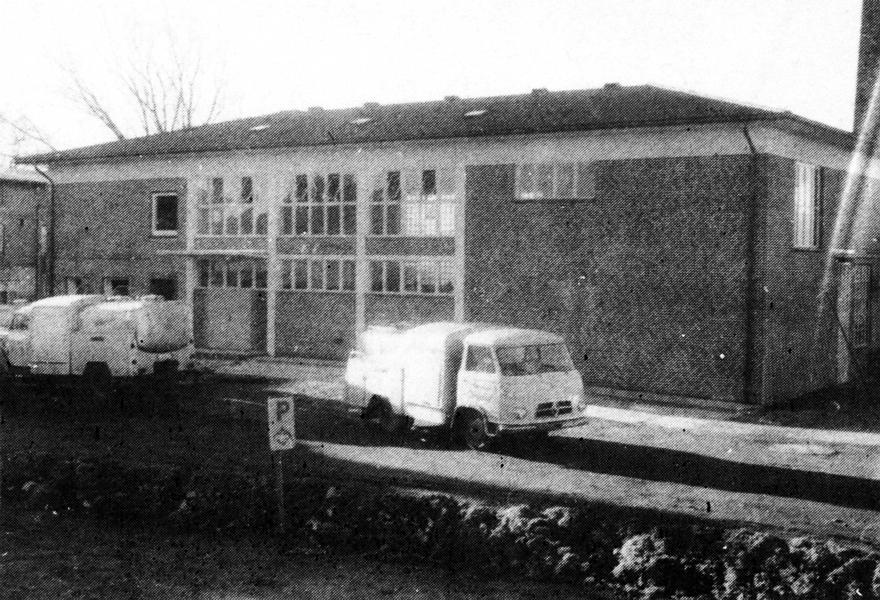 Meierei Dörphof mit Borgward-Milchtankwagen (frühe 60er-Jahre)