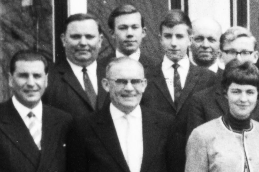Mittelschule 1965 mit den Lehrern Jägel, Neubacher, Wiese und Zienecker