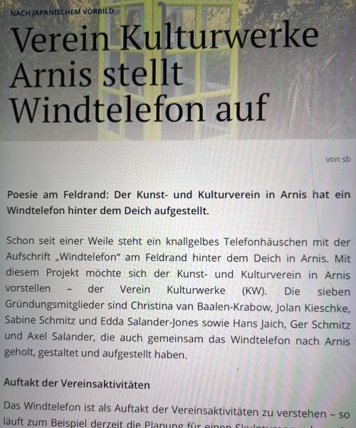 Arnis - Windtelefon - Schlei-Bote vom 6. Januar 2020 (Online-Version)