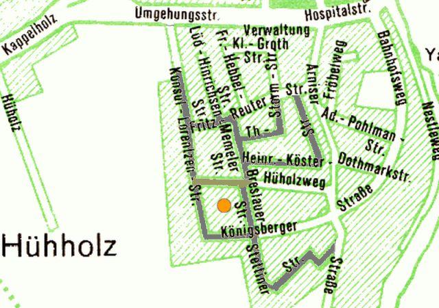 Stadtplan 1974 - Ausschnitt