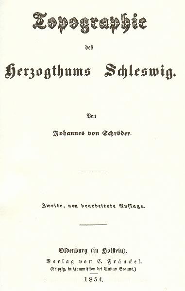 Herzogthum Schleswig - Schröder 1854