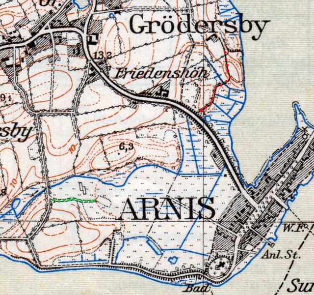 """Topographischen Karte """"1325 - Kappeln"""" (1955)"""
