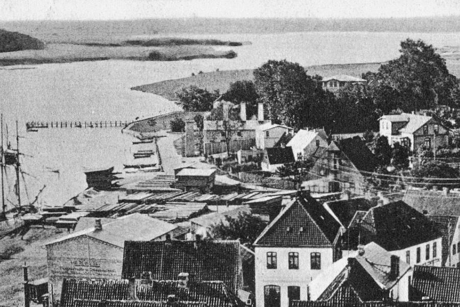 Kappeln - Blick vom Kirchturm um 1900
