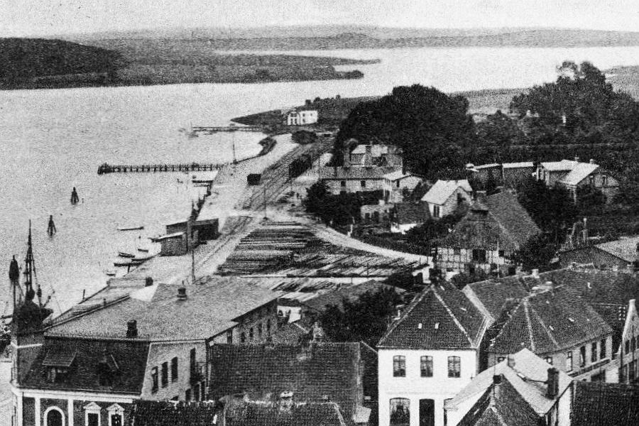 Kappeln - Blick vom Kirchturm um 1909